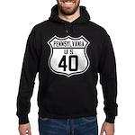 Route 40 Shield - Pennsylvani Hoodie (dark)