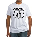 Route 40 Shield - Pennsylvani Fitted T-Shirt