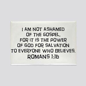 Romans 1:16 Rectangle Magnet