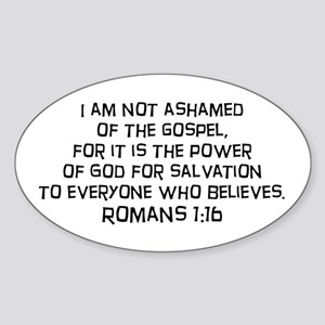 Romans 1:16 Oval Sticker