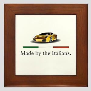 Lamborghini Italian Framed Tile