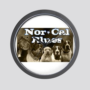 Nor Cal Blues Wall Clock