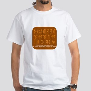Excess of Words White T-Shirt