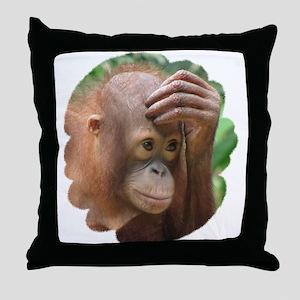 Orangutan Throw Pillow