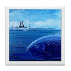 Catch of the Day Tile Coaster