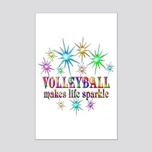 Volleyball Sparkles Mini Poster Print