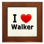 I Love Walker Framed Tile