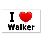 I Love Walker Rectangle Sticker