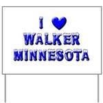 I Love Walker Winter Yard Sign