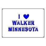 I Love Walker Winter Banner