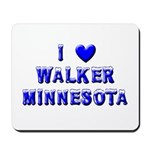 I Love Walker Winter Mousepad