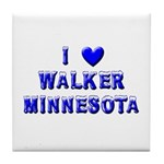 I Love Walker Winter Tile Coaster