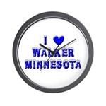I Love Walker Winter Wall Clock