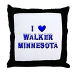 I Love Walker Winter Throw Pillow