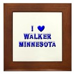 I Love Walker Winter Framed Tile