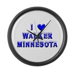 I Love Walker Winter Large Wall Clock