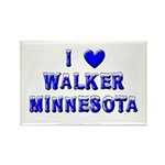 I Love Walker Winter Rectangle Magnet