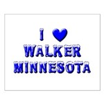 I Love Walker Winter Small Poster