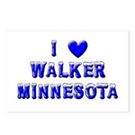I Love Walker Winter Postcards (Package of 8)