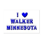 I Love Walker Winter Mini Poster Print