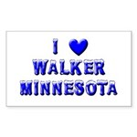 I Love Walker Winter Rectangle Sticker