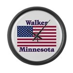 Walker Flag Large Wall Clock