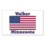 Walker Flag Rectangle Sticker 10 pk)