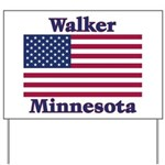 Walker Flag Yard Sign