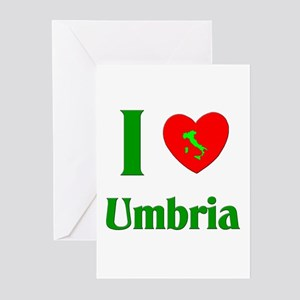 I Love Umbria Greeting Cards (Pk of 10)