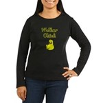 Walker Chick Women's Long Sleeve Dark T-Shirt
