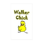 Walker Chick Rectangle Sticker 10 pk)