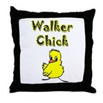 Walker Chick Throw Pillow