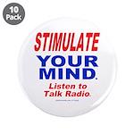 """Talk Radio 3.5"""" Button (10 pack)"""