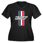 Engine 327 Women's Plus Size V-Neck Dark T-Shirt