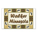 Walker Loon Rectangle Sticker 50 pk)