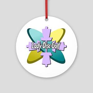 Lady Disc Golf Multi Ornament (Round)