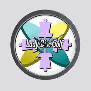 Lady Disc Golf Multi Wall Clock