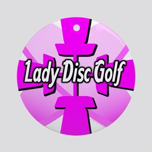 Lady Disc Golf Pink Ornament (Round)