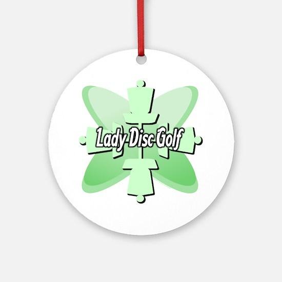 Lady Disc Golf Mint Ornament (Round)