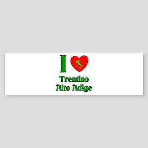 I Love Trentino Alto Adige Bumper Sticker