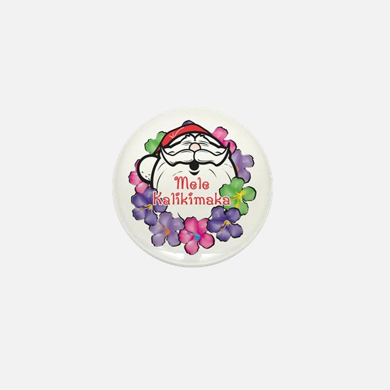 Mele Kalikimaka Santa Mini Button