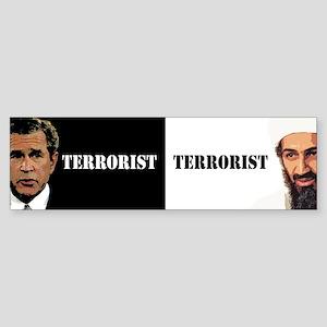 Bush Terrorist - anti bush bumper Bumper Sticker