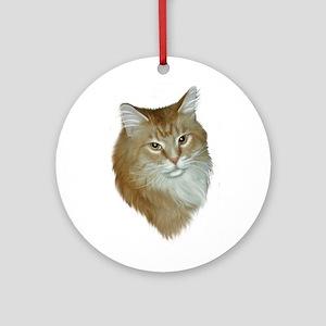 Orange Tabby Ornament (Round)