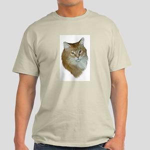 Orange Tabby Ash Grey T-Shirt