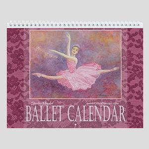 Ballet Watercolor Wall Calendar