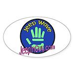 Jeepin' Guy Oval Sticker