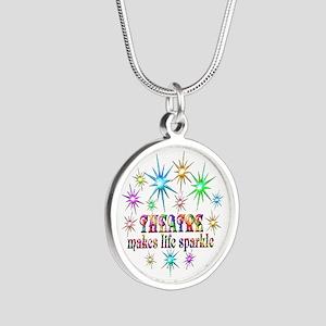 Theatre Sparkles Silver Round Necklace