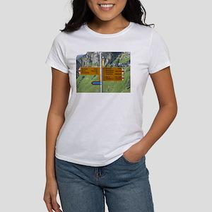 Schilthorn Hiking Trail Sign Post T-shirt