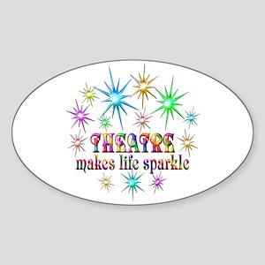 Theatre Sparkles Sticker (Oval)
