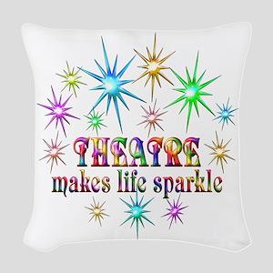 Theatre Sparkles Woven Throw Pillow